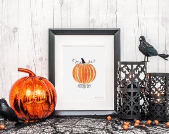 Fall Decor |Fall Printable| Fall Prints | Autumn Day Printable Art | Instant Download | Autumn Printable | Pumpkin Printable | Copper Print