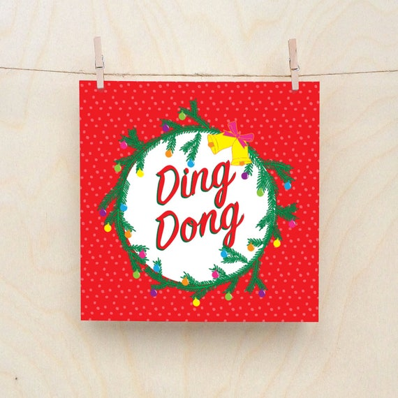 Ding Dong, Funny Christmas card, Rude Christmas Cards
