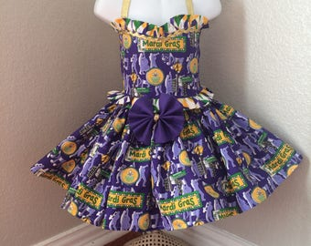 Mardi Gras Pageant, Mardi Gras Tutu, OOC, Mardi Gras dress,