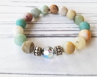 Amazonite Beaded Bracelet, Amazonite Beads, Amazonite Jewelry, Beaded Jewelry, Beaded Bracelet, Amazonite Bracelet, Gemstone Beaded Bracelet