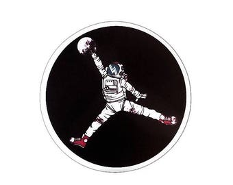 Astronaut Spaceman Stickers Funny Astronaut Sticker Space Basketball