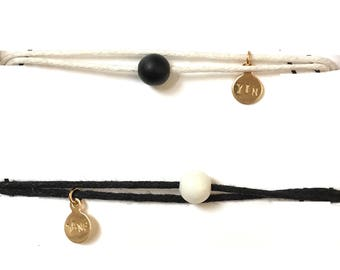 Yin and Yang bracelets, friendship bracelets, yin to my yang