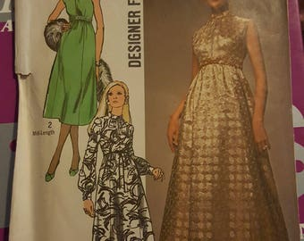 Simplicuty Dress Pattern Size 8 Petite  #9118