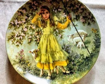"""John McClelland  """"Little Bo Peep""""  Limited Edition Collector Plate; Bradex; Mother Goose Series; Nursery Rhymes"""