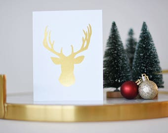 Reindeer Christmas Card Christmas Card Holiday Card Merry Christmas Card Set Christmas Christmas Gift Happy Holiday Cards Greeting Card