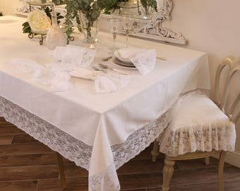 "Tablecloth with lace ""the Princesses"""