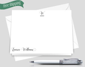 Custom Woman Stationery _ Set of 12 with Envelopes _ Signature Collection _ Custom Stationery _ HWM003