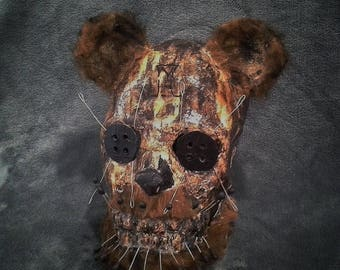 Scary Pin Bear Wearable Halloween Mask Paper Mache Animal Mask Horror Mask