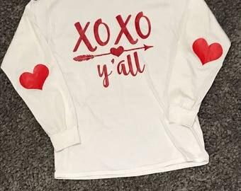 XOXO y'all - Valentine's Day shirt