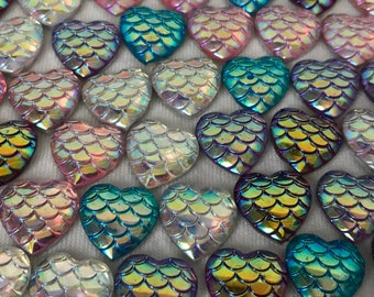 Mermaid Heart Magnets