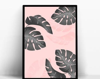 Palm blush poster. tropical inspiration - A4 size