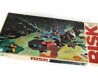 Vintage Risk Board Game, COMPLETE - Parker Brothers, 1980, World Conquest - #0044, classic, fun family game night, 2-6 players,ages 10-adult