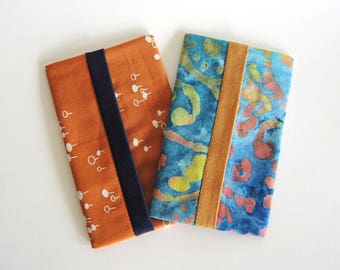 Travel tissue holder, pocket tissue cover, fabric kleenex holder, pocket kleenex cover, purse tissue cozy, car tissue holder, pocket tissue