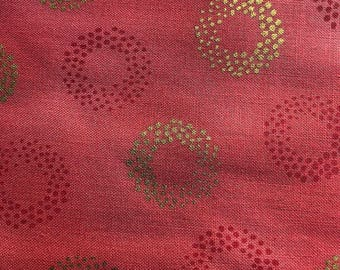 Sparkle in Coral by Robert Kaufman Fabrics
