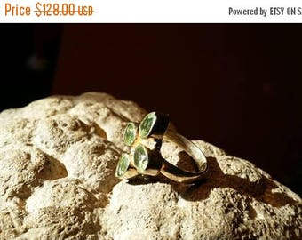 Holiday SALE 85 % OFF Green Amethyst  Size 5.5 Ring Vintage  Gemstone. 925 Sterling Silver