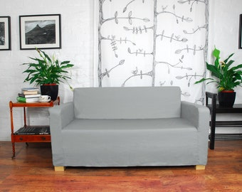 Slip cover to fit the ikea Ullvi sofa bed Silver Grey
