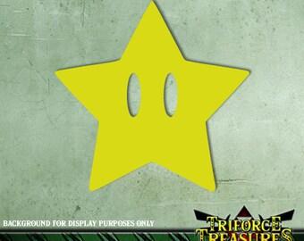 Mario Power Star Sticker / Decal