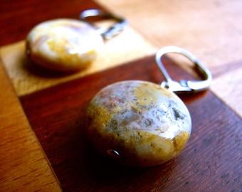 3567 -  Earrings Yellow Jasper