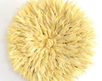 Juju Hat - Feather Headdress - Light Yellow - 78 cm/30.5 inches