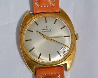 Zenith watch 18 kt yellow gold original
