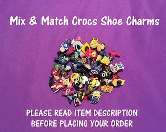 Mix & Match Crocs Shoe Charms, Bracelet charms,PVC, Jibbitz