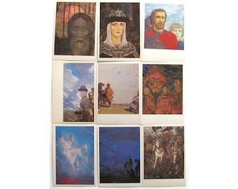 Zadontschina, Glazunov, Set of 23 Postcards, Russian Art, Russia , Print, Unused, Soviet Vintage Postcard, USSR, 1987, 1980s