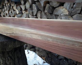 Large Walnut Mantle / Shelf