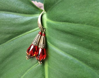 Gypsy earrings Red