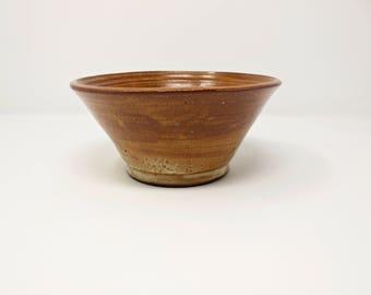 Ceramic Bowl , Handmade Stoneware Salad Bowl , Serving Bowl ,Brown Bowl, kitchen and Dining ,ceramics and pottery,Decorative bowl
