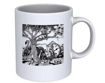 alice in wonderland - hand drawn - Coffee Mug - Best Gift !!!