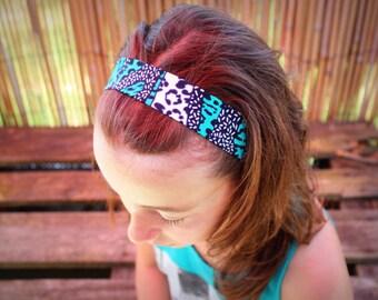 Adjustable headband in African fabric