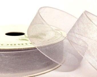 15mm Silver Organza Ribbon