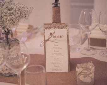 Menu range | rustic chic wedding.