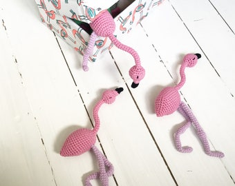Flamingo with Bendy Legs in Pink and Purple Toy