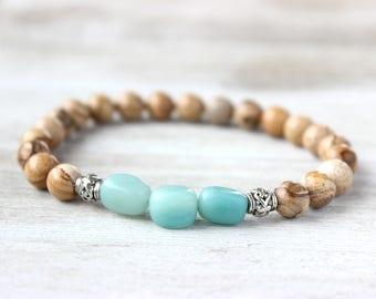 Meditation Bracelet, Mens Bracelet, Unisex Bracelet, Tribal Bracelet, Yoga Bracelet, Boyfriend Gift, Husband Gift, Masculine Bracelet