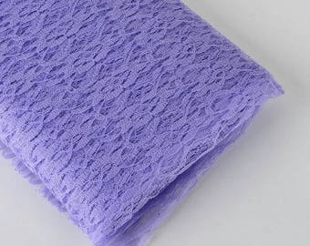 54in. 10yards bolt lace lilac fabric