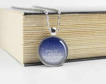 F. Scott Fitzgerald - The Great Gatsby - Book Quote Charm - Among the Whisperings - Gatsby Quote  Pendant - Literature - Book Gift - (B2486)