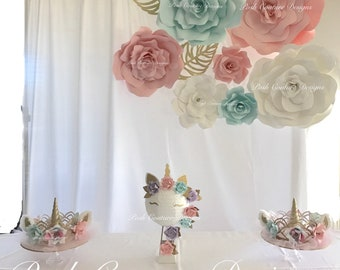 Unicorn Backdrop/ Unicorn Crown/ Unicorn Centerpiece/ Unicorn Letters/ Unicorn First Birthday/ Wedding Backdrop/ Quinceañera Backdrop