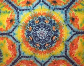 Tie Dye Tapestry, Mandala Tapestry, Ice Dye, Large Tapestry, Mandala, Psychedelic Tapestry, Hippie art, Yoga, Meditation, Ice Dyed Tapestry