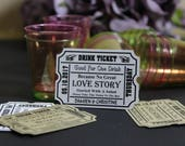 Drink TICKETS, Wedding Guest Drink Tags, Personalised Wedding Guest Free Drinks Tokens, Wedding Drinks Table Decor, TGS38