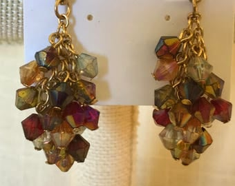 Rainbow Multibead Mesh Earrings
