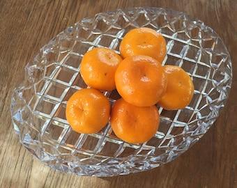 Antique Crystal serving platter