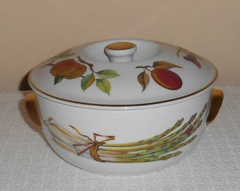 "Royal Worcester Evesham Gold 6 3/4"" Round Covered Casserole or Baking Dish Unused"
