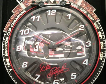Nascar Dale Earnhardt Race Clock with COA Race Sounds As Seen on TV New in Box Free Shipping