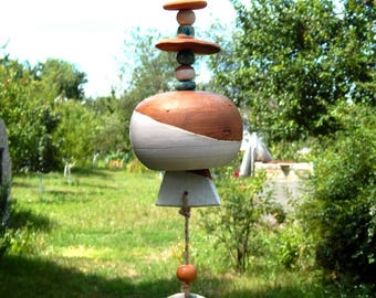 Ceramic bell, handmade ceramics, ceramics, home decor, garden decor, gift for home, birthday present, wind music