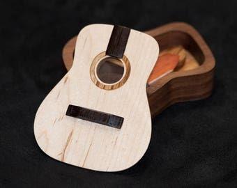 Guitar Shaped Pick Box / Small Keepsake Box