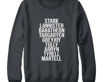 Game of Thrones Houses Shirts Game Of Thrones Shirt Houses Family Gifts Game Of Thrones Sweatshirt Oversized Sweatshirt Women Sweatshirt Men