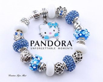 2 styles available -Sterling silver PANDORA Bracelet with all the beads -OR-select a European  bracelet with charms-