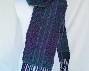Blue-Green Wool Scarf