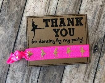 Ballet birthday party favors,ballerina party favors,dance team party,dance hair tie favors,ballerina invitation ,ballerina theme birthday